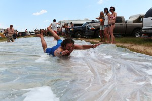 watersliding