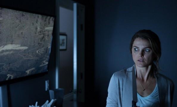 Keri Russell distrusts her TV in Dark Skies.