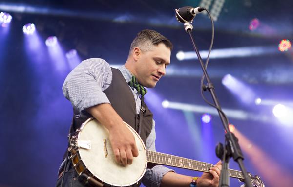 Elliott Brood plays at the Yeti stage at Sasquatch 2013.