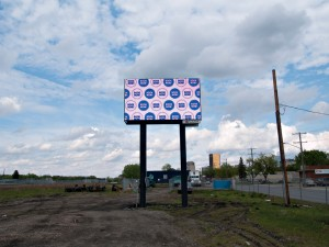 A billboard art installation curated by Neutral Ground