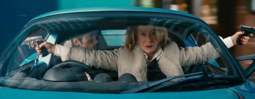 Helen Mirren and guns: Do not mix.