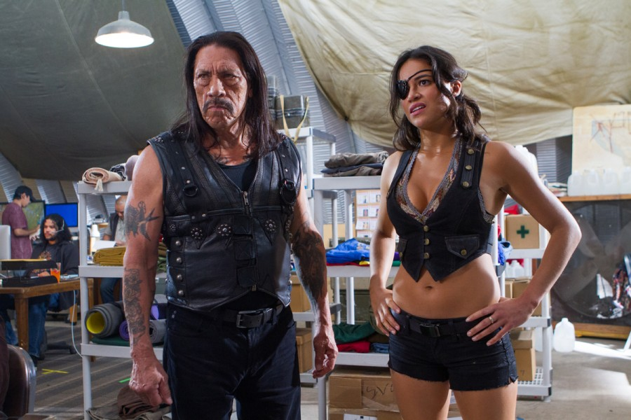 Machete Kills, featuring Michelle Rodríguez' increasingly shrinking wardrobe.