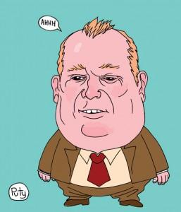 Rob Ford cartoon by Puty