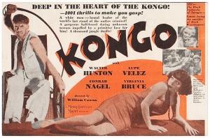 KONGO Walter Huston LUPE VELEZ '32 Pre-Code HORROR Film VINTAGE MGM MOVIE HERALD 1