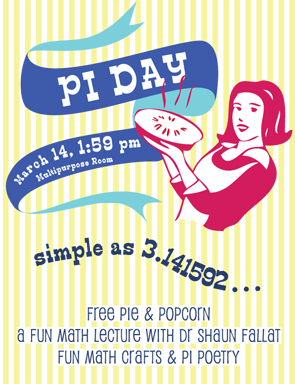 Pi Day 2014 poster