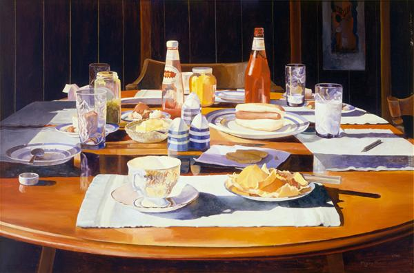 Mary Pratt Supper Table (1969)