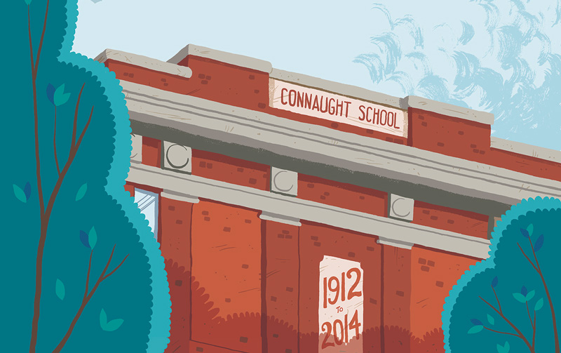 Connaught School illustration by Dakota McFadzean