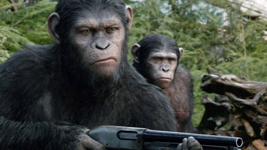 Beware: Monkey with a gun.