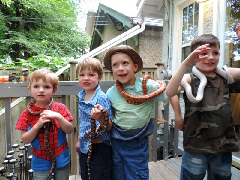 World Snake Day (children and snakes-2)