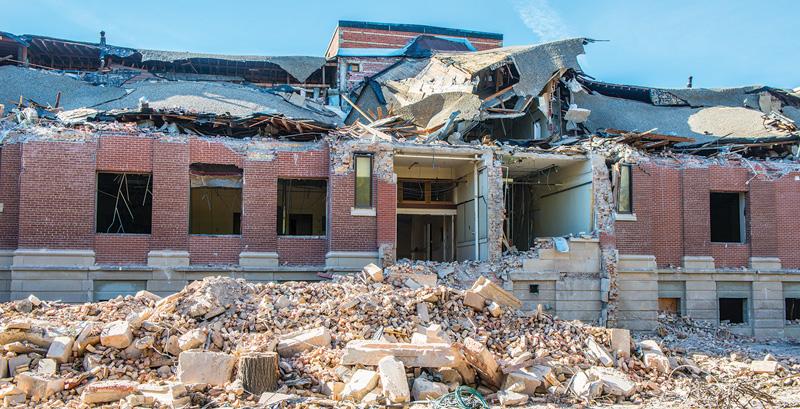 Connaught demolition (photo by Darrol Hofmeister)