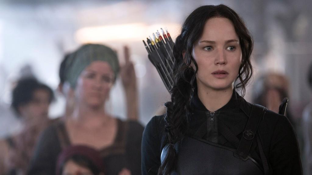 Katniss, dressed to kill.