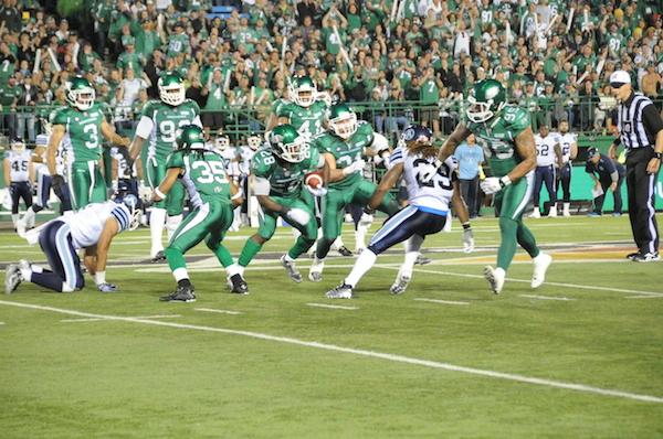 When the Riders hosted the Argos last July the final score was 37-9 for the home team.