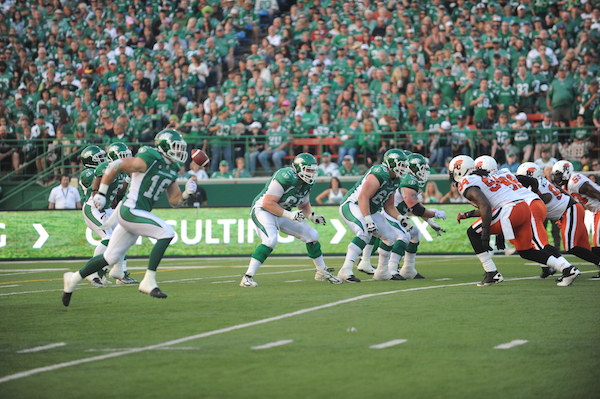 Game action from July 12 2014, when the Lions prevailed over the Riders 26-13.