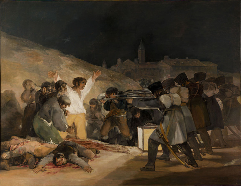 One of Goya's best known paintings The Third of May 1808 which was completed in 1814