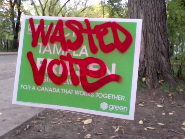 wastedvotesign