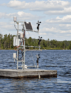 A hi-tech science gizmo at the Experimental Lakes Area.