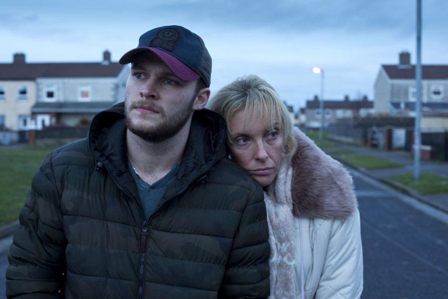 Jack Reynor and Toni Collette in Glassland.