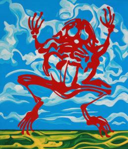 Michel Boutin: Frog (2015) Enamel on canvas