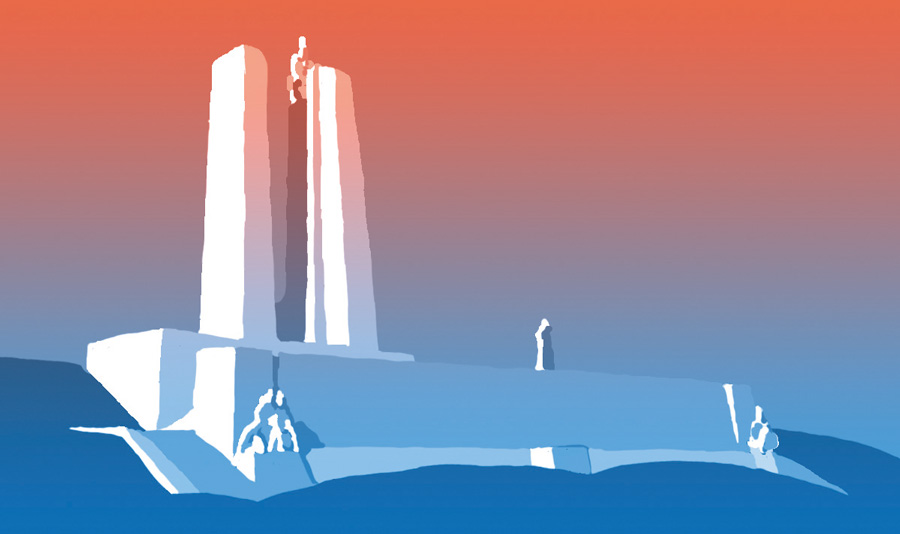 Illustration of Vimy Memorial